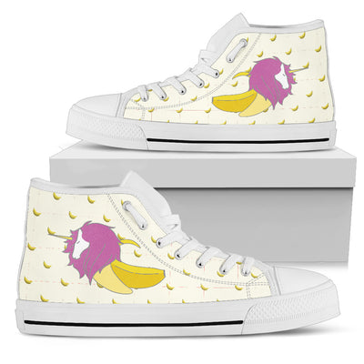 High Top Shoes Unicorn Inside Banana Funny Gift