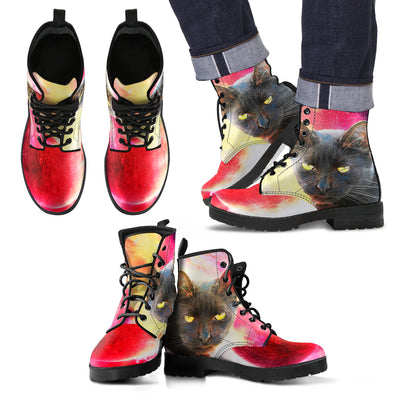 Black Cat Galaxy Boots