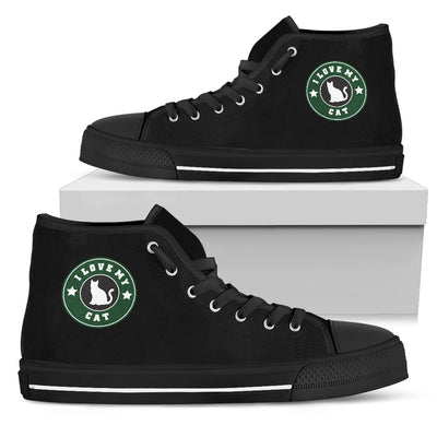 Starbucks Cat High Top Shoes