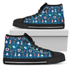 Nautical Doberman Fabric Pattern High Top Shoes
