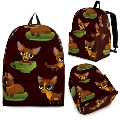 Pose Pattern Chihuahua Backpack