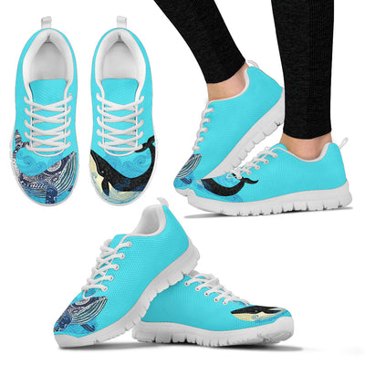 Whale Black Blue Couple Lovely Fashion Sneakers