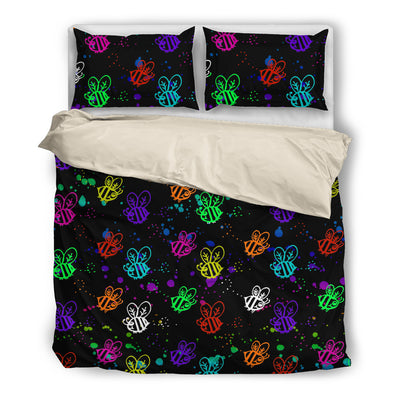 Brusher Bee Colorful Watercolor Random Lovely Bedding Set