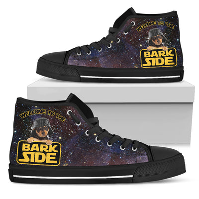 Dachshund Welcome To The Bark Side High Top Shoes