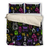 Brusher Owl Colorful Watercolor Random Lovely Bedding Set