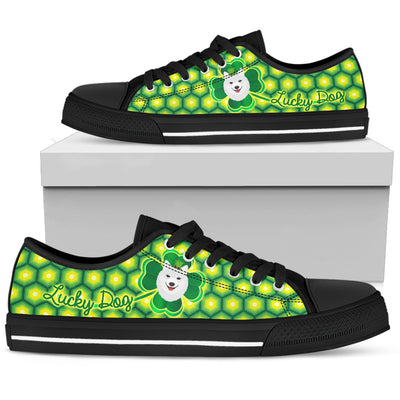 Happy St. Patrick's Day Vintage Style Samoyed Low Top Shoes