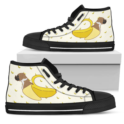High Top Shoes Boxer Inside Banana Funny Gift
