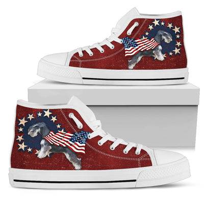 Schnauzer Independence Day High Top Shoes