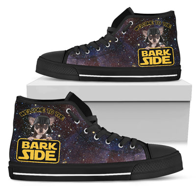Chihuahua Welcome To The Bark Side High Top Shoes