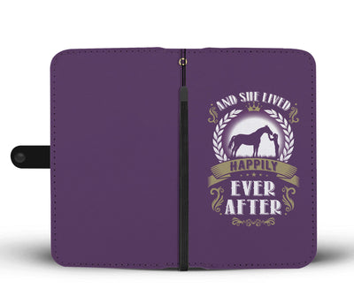 Horse And She Lived Happily Ever After Wallet Phone Case