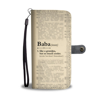 Funny Definition Baba Wallet Phone Case
