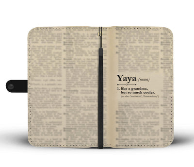 Funny Definition Yaya Wallet Phone Case