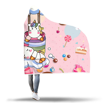 Rainbow Unicorn Sweet Dream Hooded Blanket