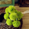 1Bunch/6PCs Plastic Prickly Ball Artificial Flowers Home Decors 5 Colours Handled