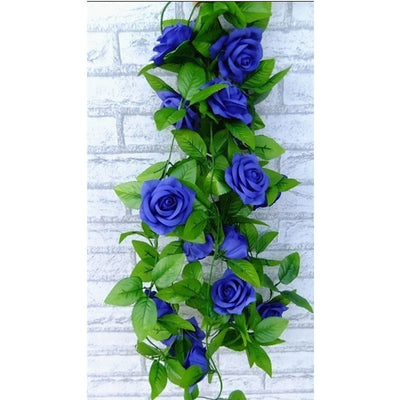 2.5m Artificial Flowers Garland Silk Vine Ivy For Decoration Home
