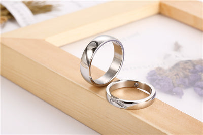 Stainless Steel Love Awakes Couple Ring For Lovers Handled