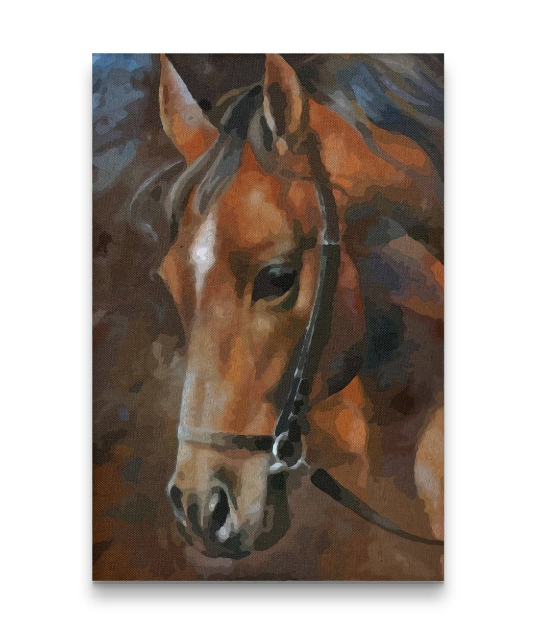 Oil Painting Horse Head Canvas Prints Gift For Crush
