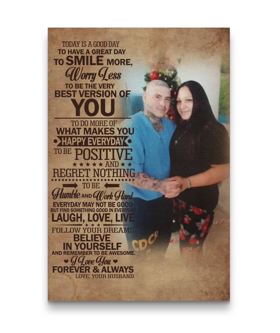 Today Is A Good Day Sweet Couple Hugging Canvas Print Gift For Crush