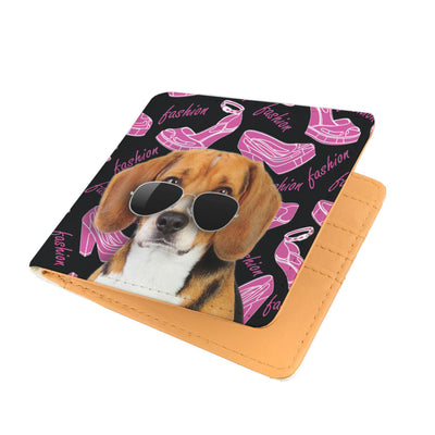 Beagle Wearing Sunglasses High Fashion Men's Wallet