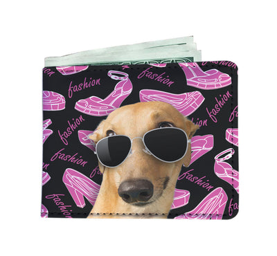 Greyhound Wearing Sunglasses High Fashion Men's Wallet