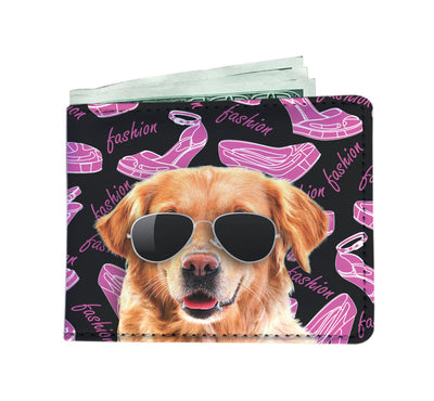 Labrador Wearing Sunglasses High Fashion Men's Wallet
