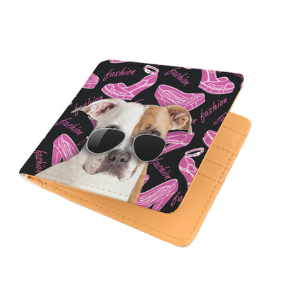 Pitbull Wearing Sunglasses High Fashion Men's Wallet