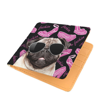Pug Wearing Sunglasses High Fashion Men's Wallet
