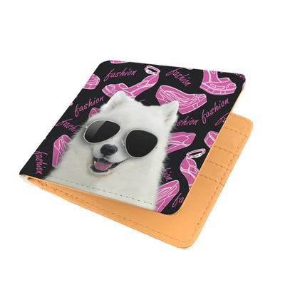 Samoyed Wearing Sunglasses High Fashion Men's Wallet