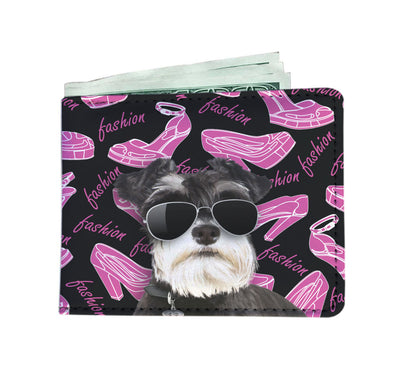 Schnauzer Wearing Sunglasses High Fashion Men's Wallet