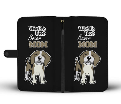 World's Best Boxer Mom Wallet Phone Case