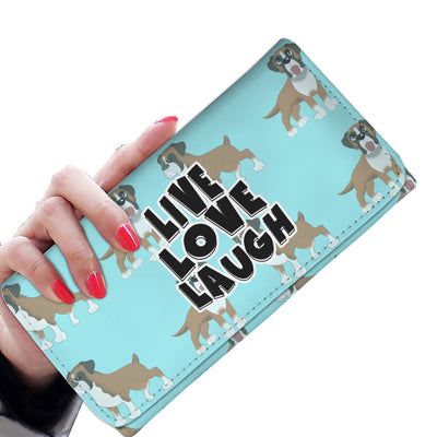 Live Love Laugh Boxer Women's Wallet