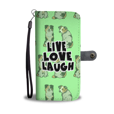 Live Love Laugh German Shepherd Wallet Phone Case