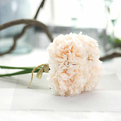 5 Heads/bunch Silk Artificial Flowers Hydrangeas Bouquet For Decoration