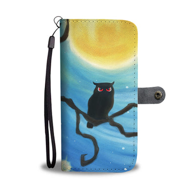 Owl With Twilight Wishes Wallet Phone Case