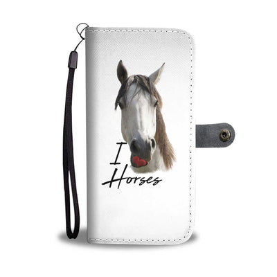 Horse - I Love You Wallet Phone Case