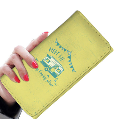Meet Me At My Happy Place Women's Wallet