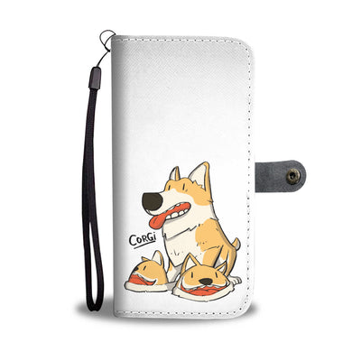 Corgi Slippers Wallet Phone Case