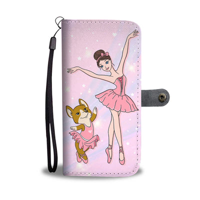 All I Need Is Love And Ballet And Corgi Wallet Phone Case