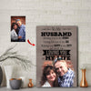 Caring For You - My Job - Loving You - My Life Husband Custom Canvas Print