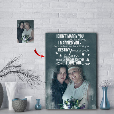 Love Made Us Forever Together Couple Custom Canvas Print