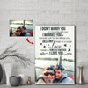 Sweet Lake Couple Custom Canvas Print -  I love you the most