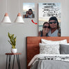 Love Made Us Forever Together - Destiny Made Us A Couple Custom Canvas Print