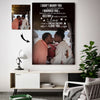 Sweet Kiss Beach Hut Happy Destiny Couple Custom Canvas Print