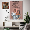 Sweet Love Destiny Couple Happy Forever Custom Canvas Print