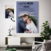 Sweet Kiss  Happy Wedding Destiny Love Couple Custom Canvas Print