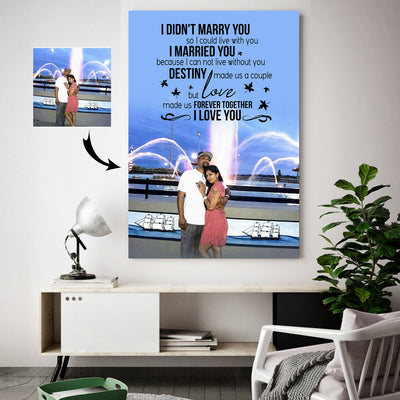 Love Made A Forever Happy Couple Custom Canvas Print