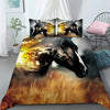 Horse Race On Field Bedding Set And Blanket