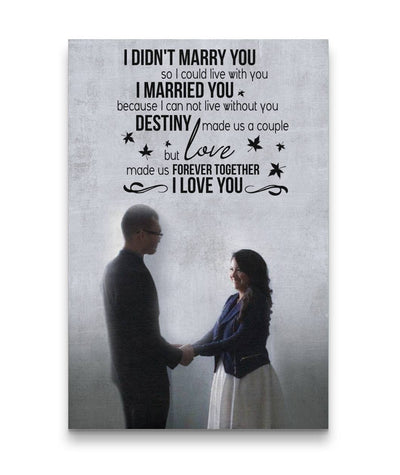I Love You Without Knowing How Destiny Love Couple Custom Canvas Print
