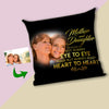 Always Eye To Eye - Always Heart To Heart Mother And Daughter Custom Cushion