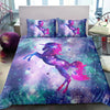 Cosmic Unicorn Fantasy Stars Galaxy Bedding Set